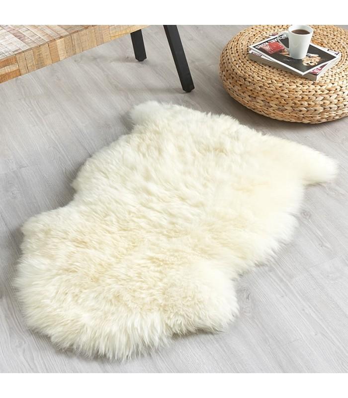 Ivory White Sheepskin Rug (2x3.25 ft)