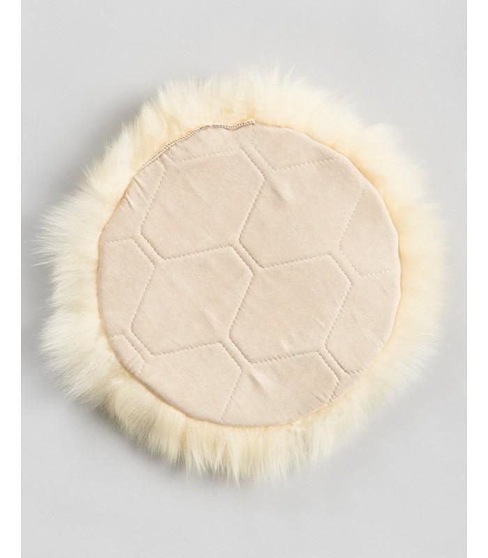Champagne Longwool Sheepskin Seat Cover - Circle