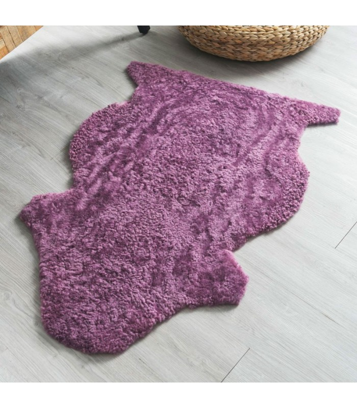 Purple Curly Sheepskin Rug (2x3 ft)