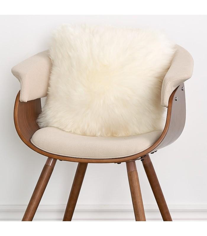 Double Sided Ivory Longwool Sheepskin Pillow / Cushion