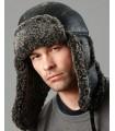 Black Ultimate Aviator Hat - Shearling Sheepskin