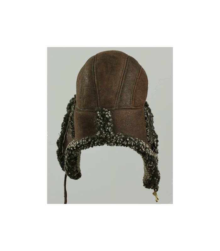 Brown Ultimate Aviator Hat - Shearling Sheepskin