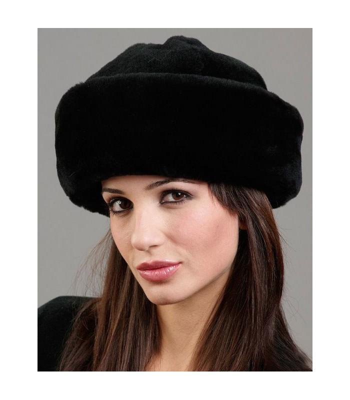 Fleece Cloche Hat - Black Sheepskin