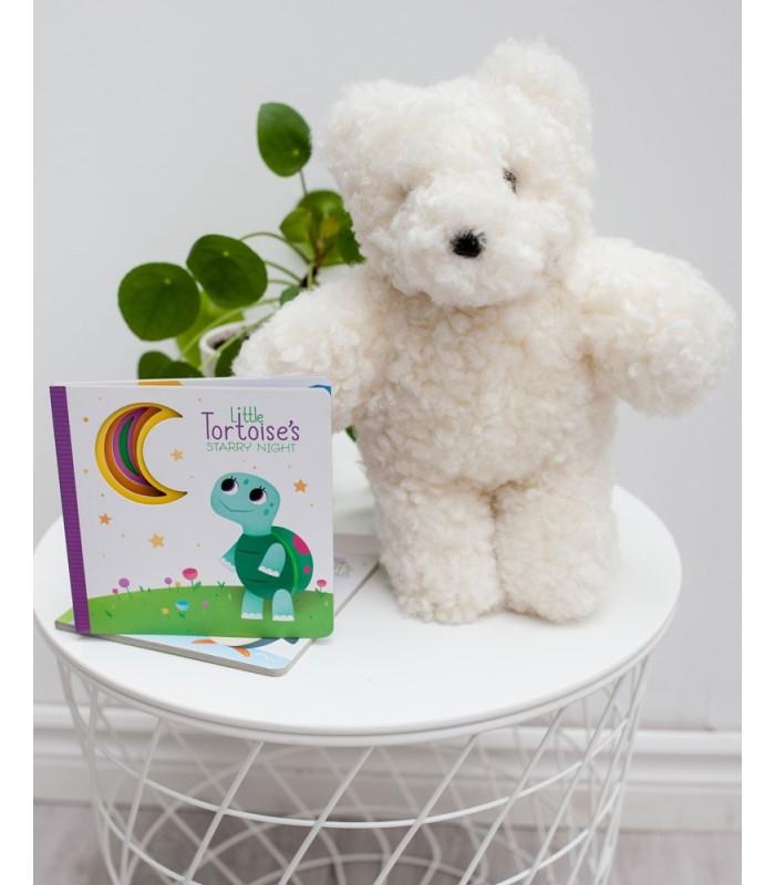 Kids Wool Stuffed Bear in Ivory