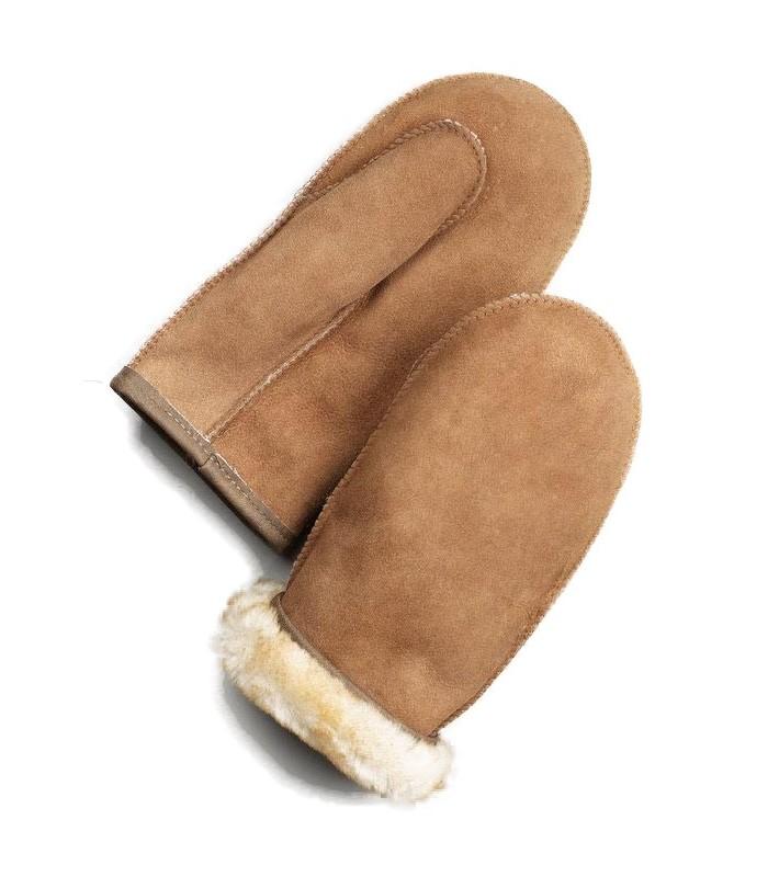 Alaska Tan Shearling Sheepskin Mittens for Men