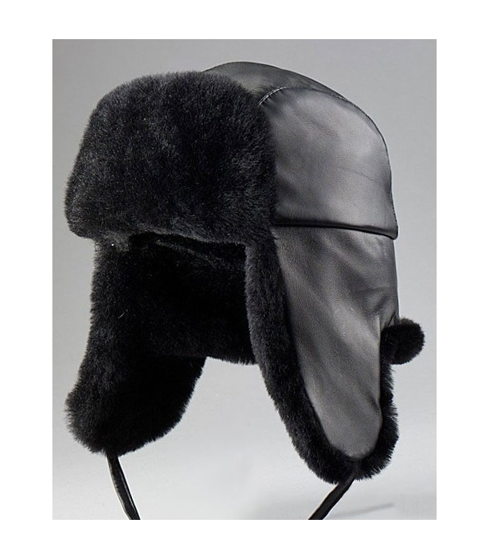 Aviator Hat - Mouton Sheepskin and Leather