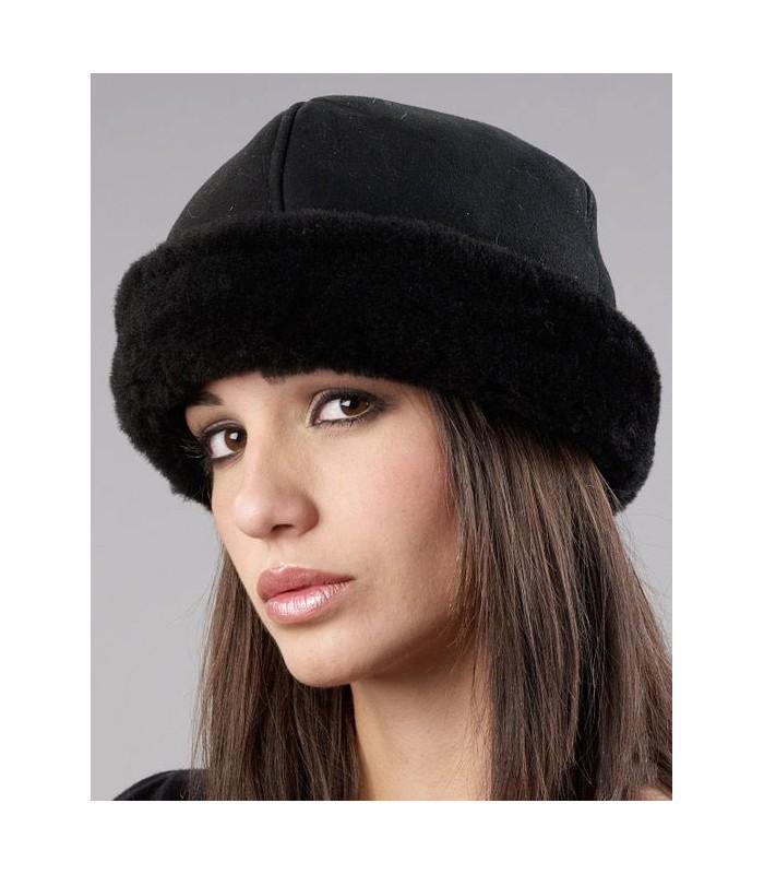 Black Olie Hat - Shearling Sheepskin