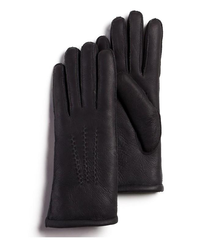 Black Sheepskin Nappa Gloves for Women
