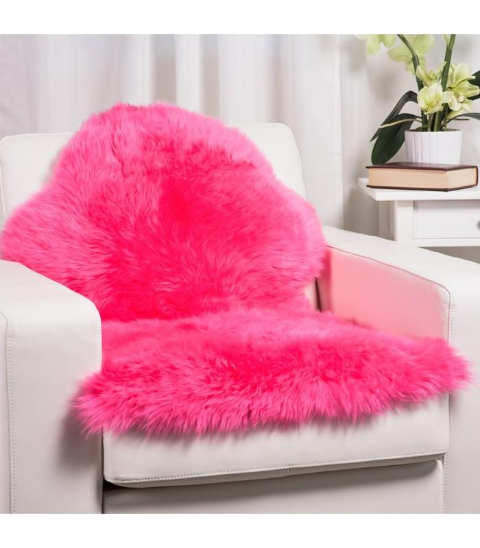 Hot Pink Sheepskin Rug (2x3.5 ft)