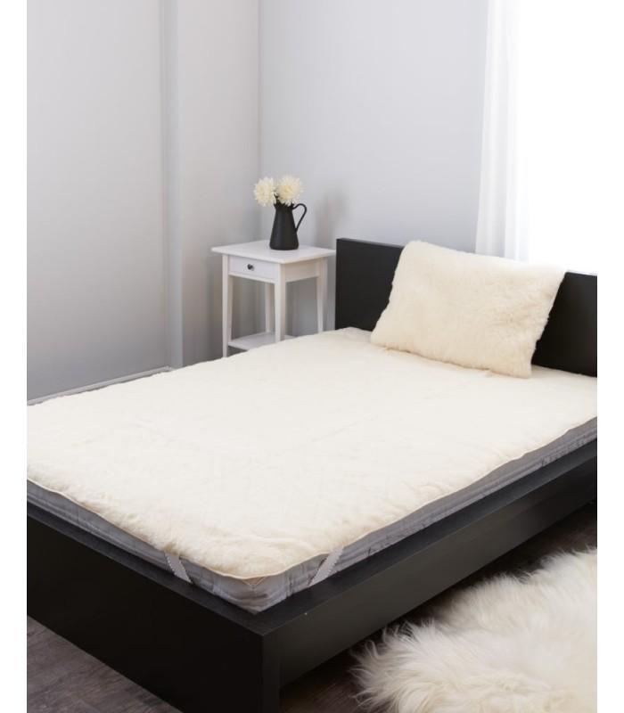 Sheepskin Wool Mattress Pad - Queen Size