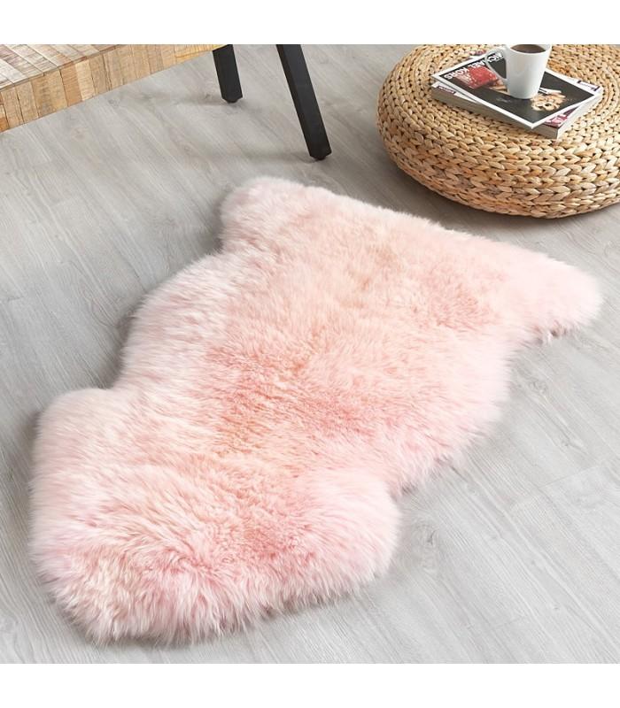 Candy Floss Pink Sheepskin Rug (2x3.5 ft)