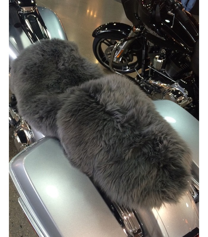 Longwool Sheepskin Motorcycle Seat Cover - Neutral Colors