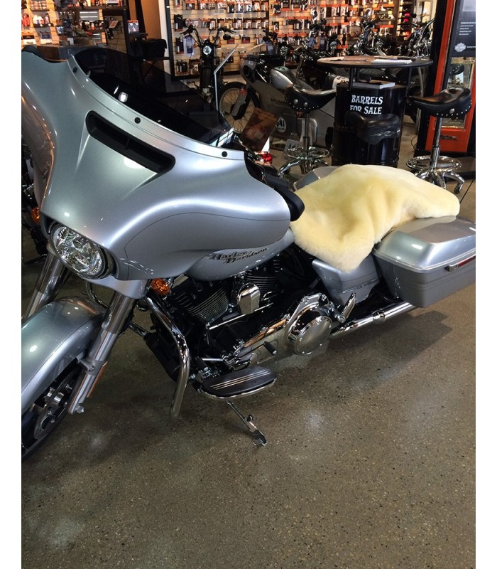 Shorn Wool Sheepskin Motorcycle Seat Cover