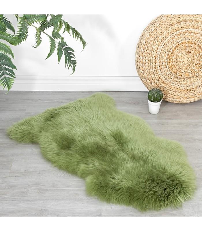 Meadow Green Sheepskin Rug (2x3.5 ft)