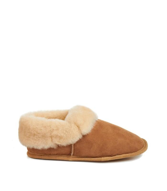 Soft Leather Sole Men's Sheepskin Madison Slippers