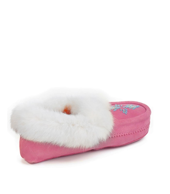Tammarack Pink Indoor Shearling Moccasin