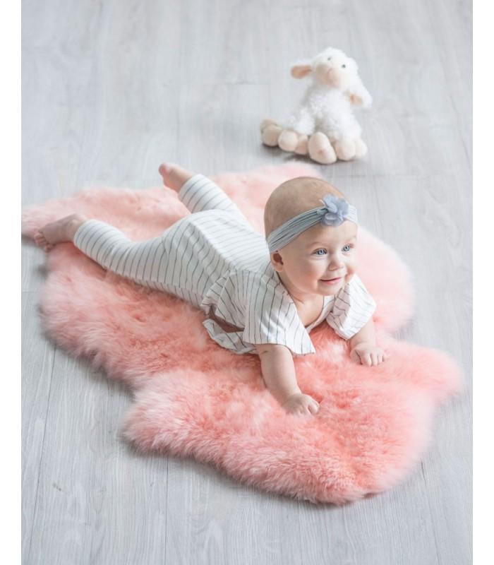 Kid's Bubble Gum Pink Sheepskin Rug (2x3.5 ft)