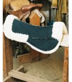 Fully Lined Sheepskin Saddle Half Pad with Pommel and Cantle Roll