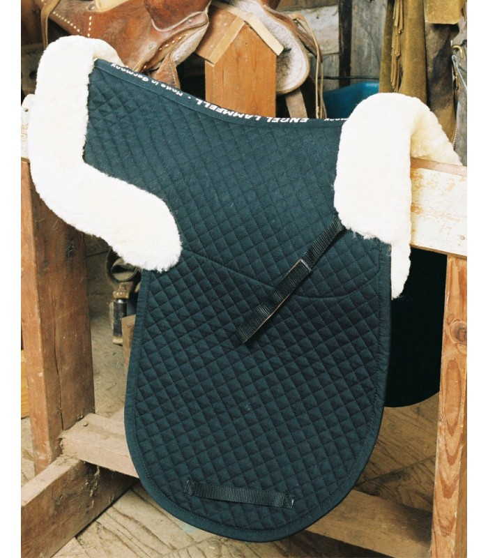 Sheepskin Dressage Saddle Pad with Pommel and Cantle Roll