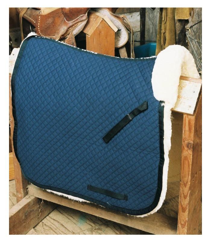 Sheepskin Dressage Saddle Blanket with Pommel Roll