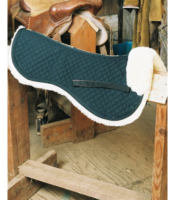 Fully Lined Sheepskin Saddle Half Pad with Pommel Roll