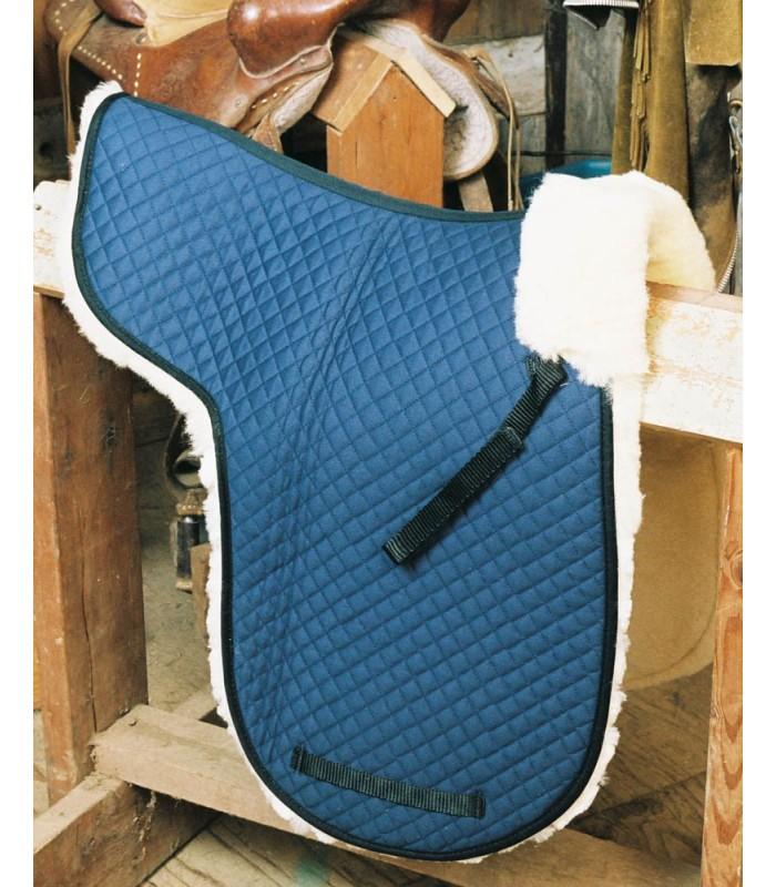 Sheepskin Dressage Saddle Pad with Pommel Roll