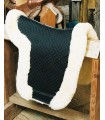 Fully Lined Sheepskin Dressage Saddle Pad with Rolled Edge