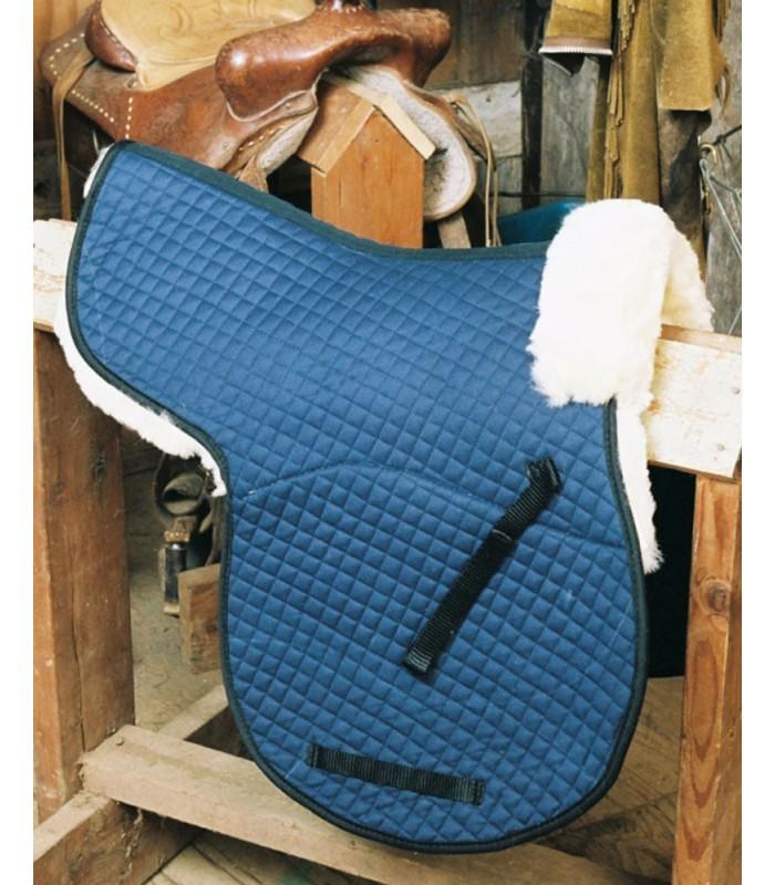 Sheepskin Saddle Pad with Pommel Roll