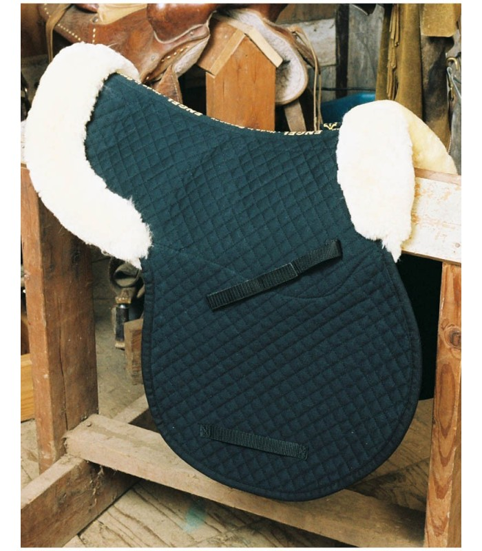 Sheepskin Saddle Pad with Pommel and Cantle Roll