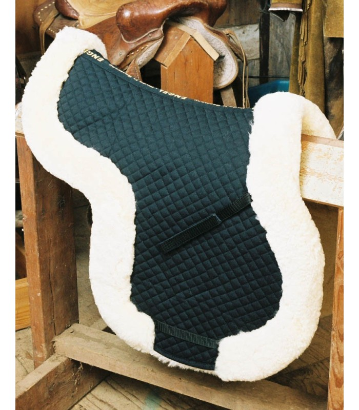 Fully Lined Sheepskin Saddle Pad with Rolled Edge