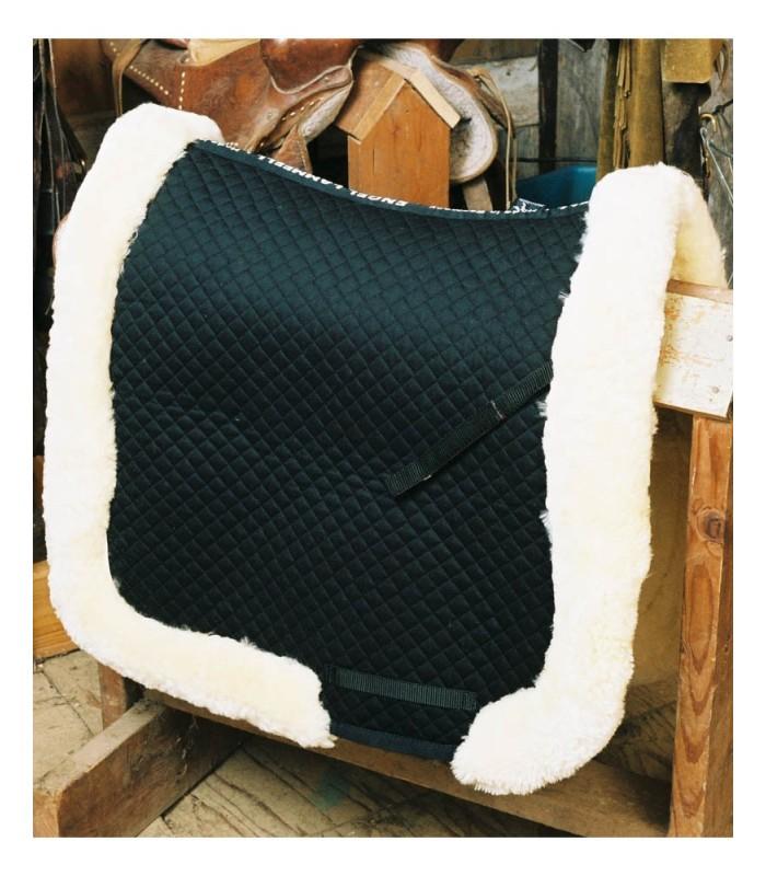 Fully Lined Sheepskin Dressage Saddle Blanket with Rolled Edge