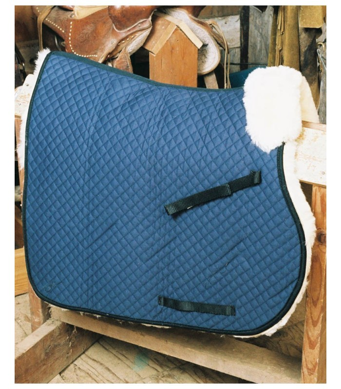Sheepskin Saddle Blanket with Pommel Roll