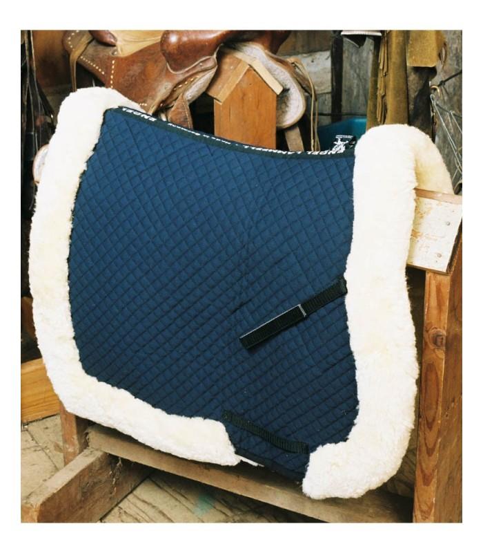 Fully Lined Sheepskin Saddle Blanket with Rolled Edge