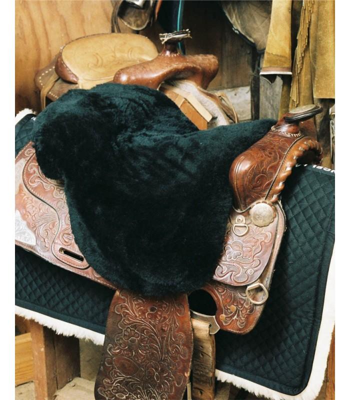 Sheepskin Western Saddle Seat Cover