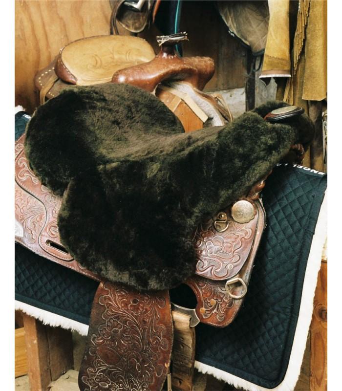 Sheepskin Full Western Saddle Seat Cover