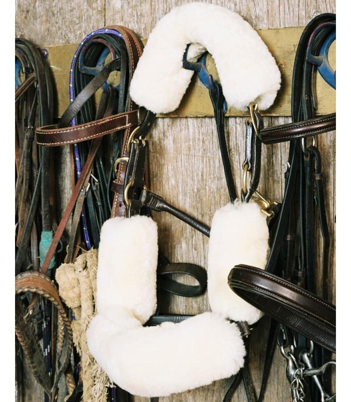 Sheepskin Bridle Cover Set