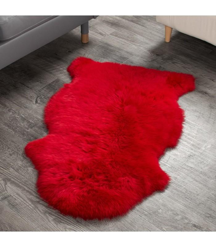 Wildfire Red Sheepskin Rug (2x3.5 ft)