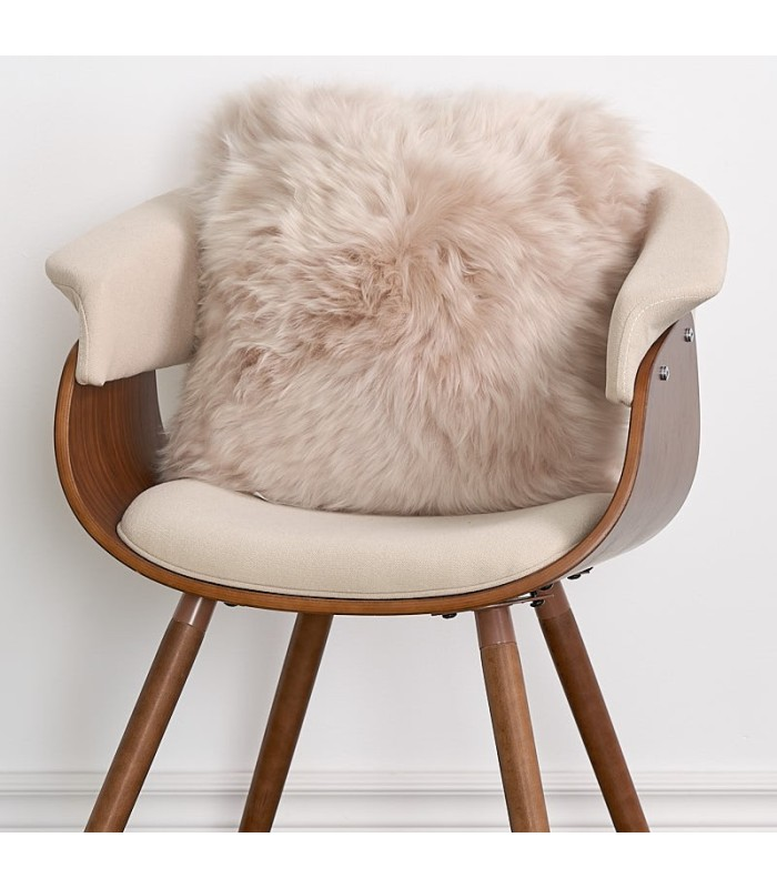 Double Sided Stone Longwool Sheepskin Pillow / Cushion