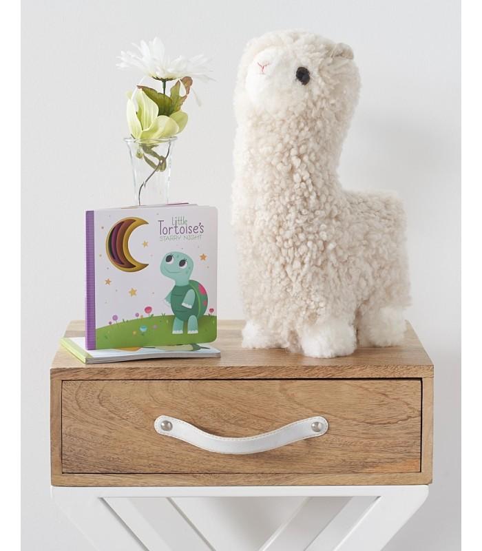Kid's Sheepskin Wool Llama - Ivory