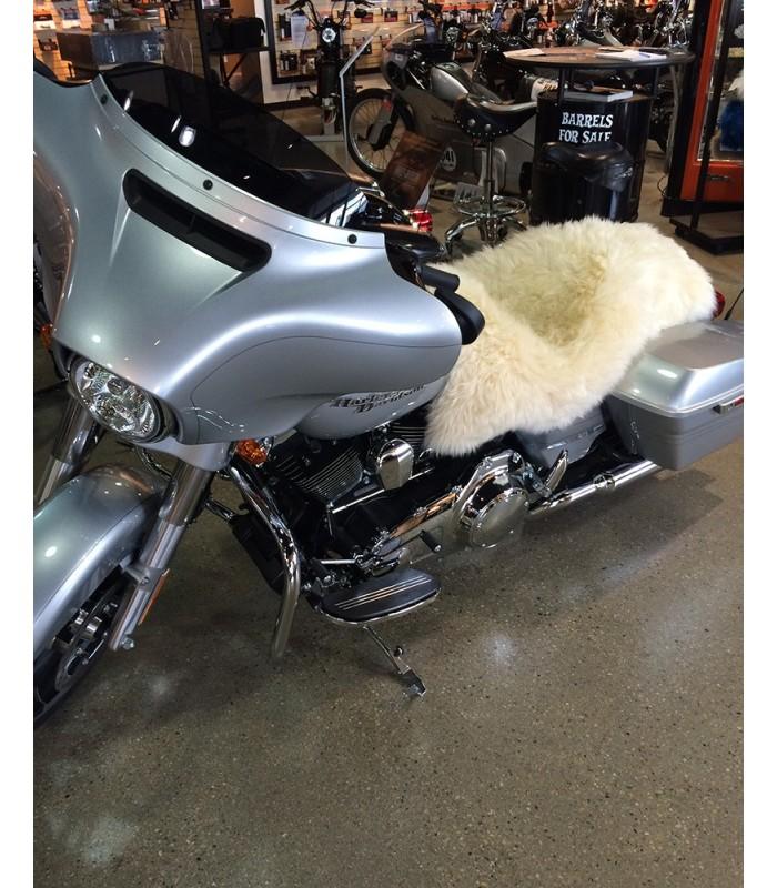 Longwool Sheepskin Motorcycle Seat Cover - Light Colors