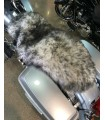 Longwool Sheepskin Motorcycle Seat Cover - Multi Colors