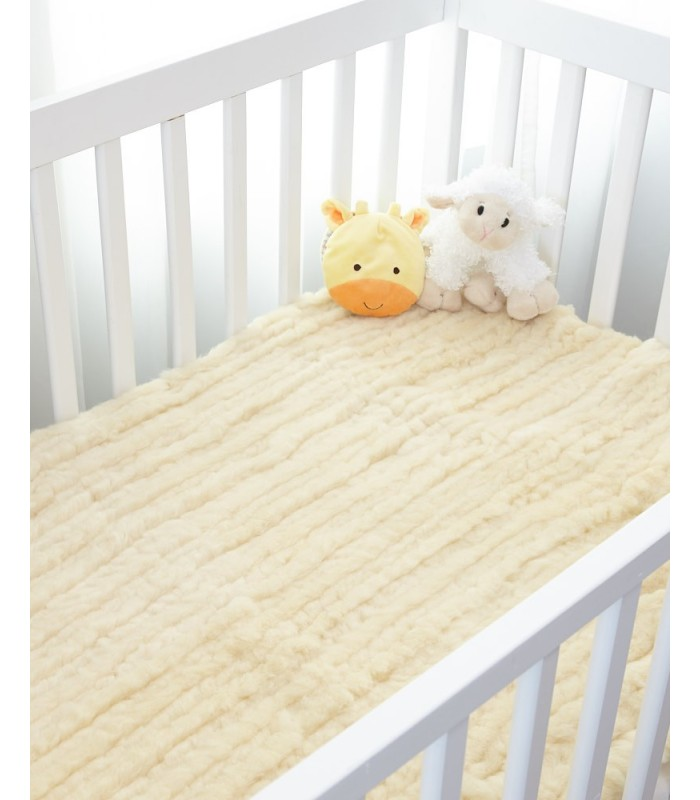 Premium Sheepskin Wool Crib Mattress Pad