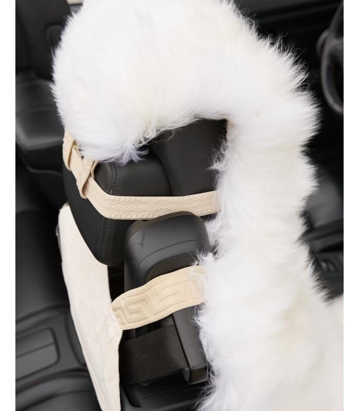Long Wool Sheepskin Car Seat - Universal Fit