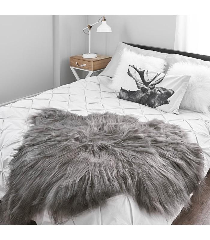Icelandic Sheepskin in Charcoal