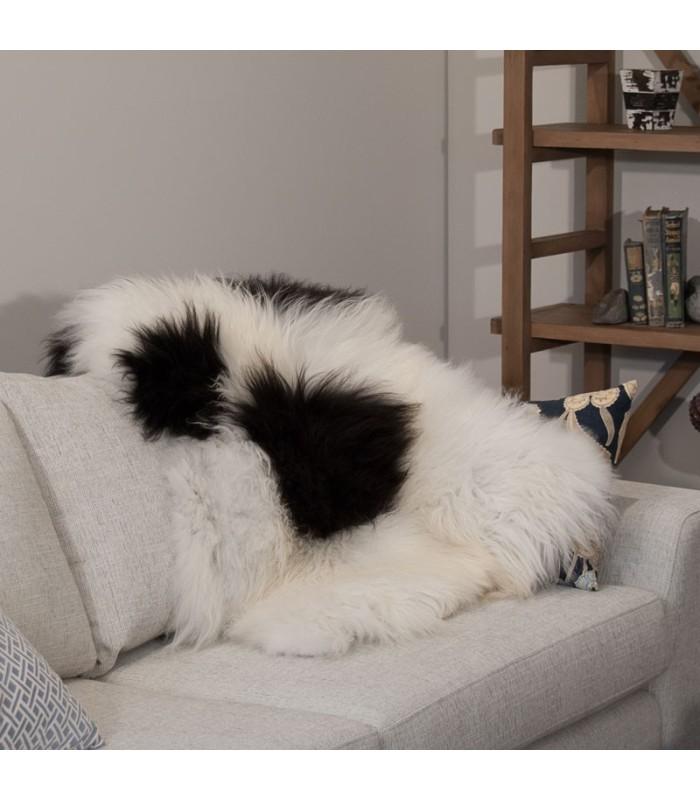 Icelandic Sheepskin in Natural Black and White