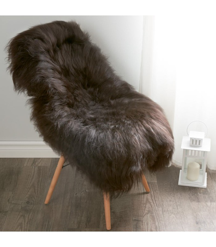 Icelandic Sheepskin in Dark Brown