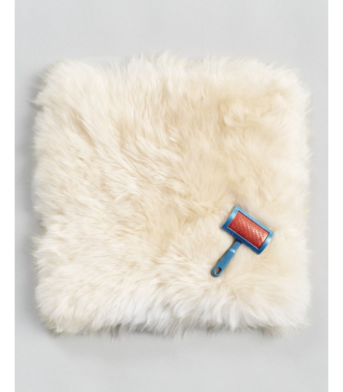 Champagne Longwool Sheepskin Seat Cover - Square